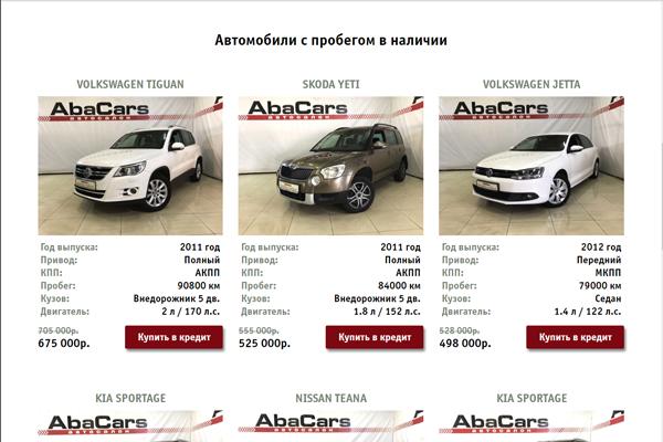Автосалон abacars москва кредит по залог авто харьков